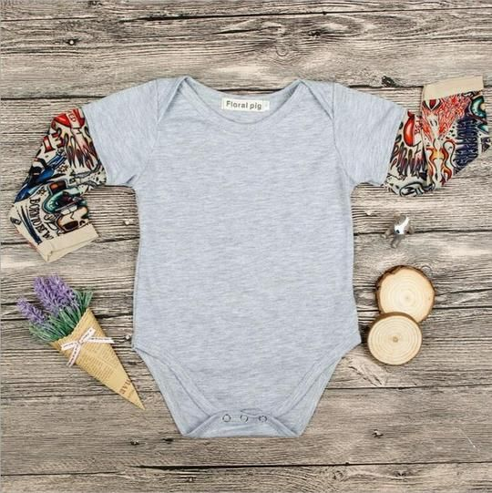 Child Boy Tattoo Print Bodysuit Humorous Jumpsuit New child Garments Infan Cotton Physique Go well with Boys Women Lengthy Sleeve Youngsters Tee Shirts