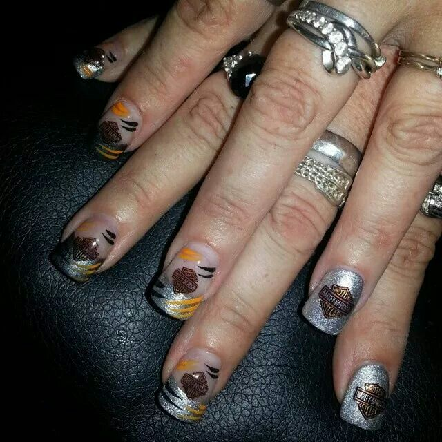 http://www.nailapparel.net My Harley Davidson decals came in and - 14 Best Motorcycle Nail Art Images On Pinterest Harley Davidson