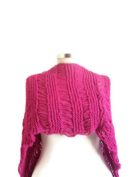 Purple Shawl  free ship Scarf bolero stole cowl by modelknitting