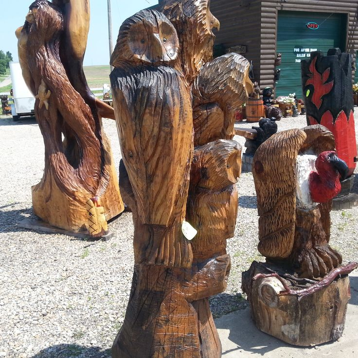 Buzzard chainsaw carvings mount perry ohio