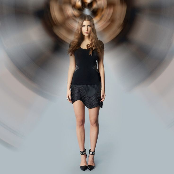 Luxury Jacqueline Piron t-shirt with leather and Swarovski crystals