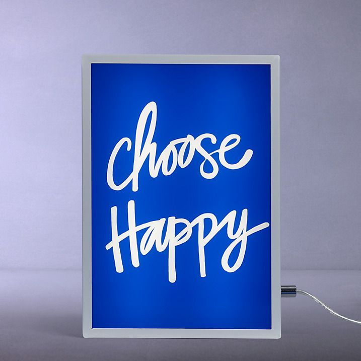 Buy John Lewis Choose Happy Small LED Light Box, Blue From Our Desk U0026 Table  Lamps Range At John Lewis.