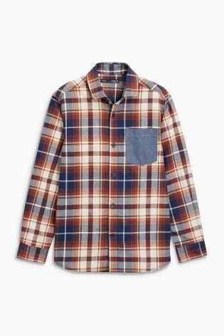 Rust Long Sleeve Check Shirt (3-16yrs)