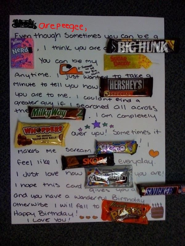 Birthday Candy Bar Poem Michaelieclark