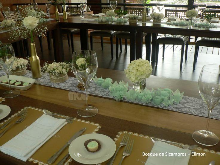 Centros de Mesa en kirigami de Elimon Papel pergamino  Diseño, montaje y decoración de Bosque de  Sicamoros