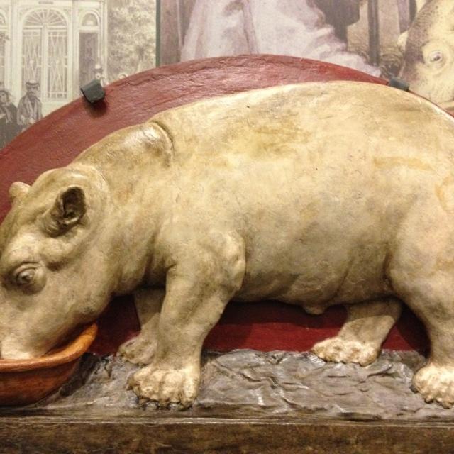 Gevelsteen Hippo anno 18.. Amsterdam