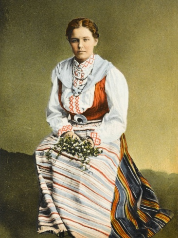 Traditional finnish costume