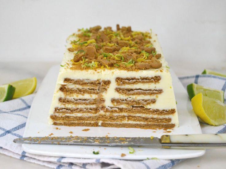 Tarta fría de leche condensada, limón y galletas ¡Sin horno ni gelatina!      Ingredientes Para una tarta de 8-10 raciones 370gr de lech...