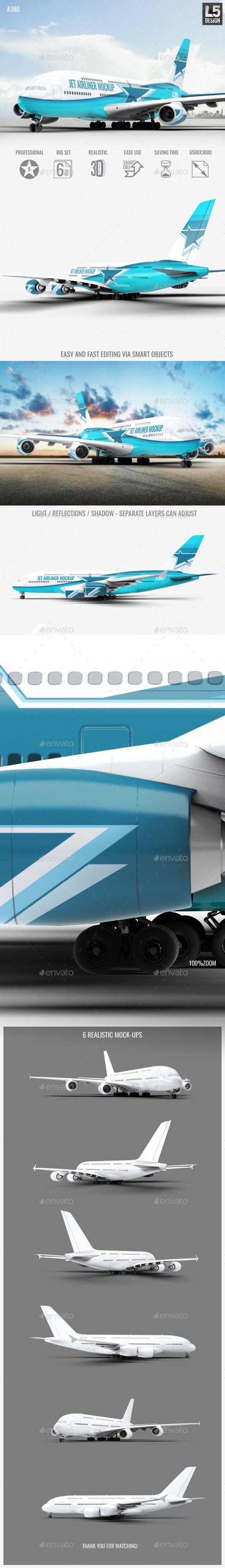 Jet Airliner A380 Mock-Up. Download here: https://graphicriver.net/item/jet-airliner-a380-mockup/17125743?ref=ksioks