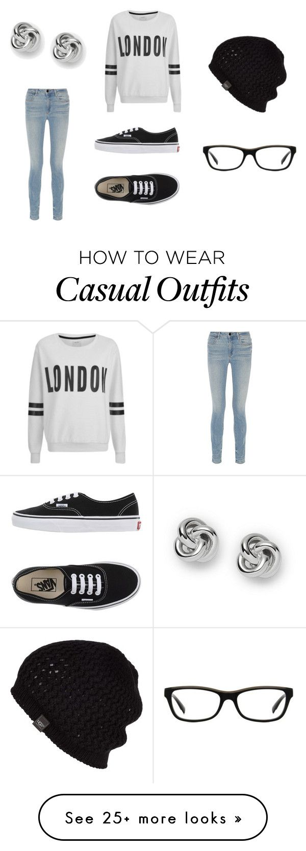 Casual by hannah-millar on Polyvore featuring Alexander Wang, ONLY, Vans, UGG Australia, Armani Exchange, FOSSIL and London