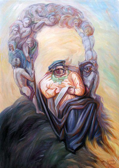 Portrait of Michelangelo by Oleg Shuplyak 1967   Optical illusionist painter