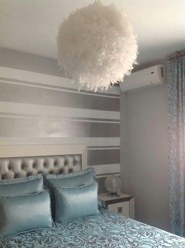 Dormitorio chic en plata con l mpara de plumas a la venta for Decoracion habitacion infantil leroy merlin