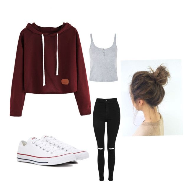 """Casual day"" by catalinadam on Polyvore featuring Topshop and Converse"