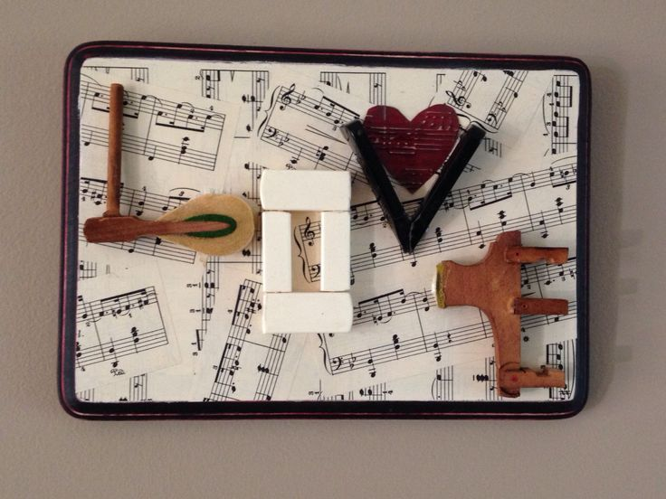 Vintage piano keys LOVE collage with sheet music background on painted wood plaque by MusicAsArtBySarah on Etsy