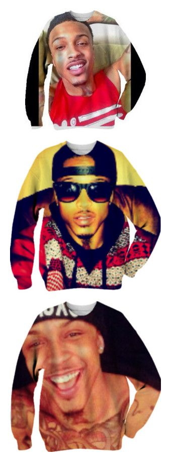 """""""aa"""" by loyalartist607 ❤ liked on Polyvore featuring tops, shirts, sweaters and august alsina"""