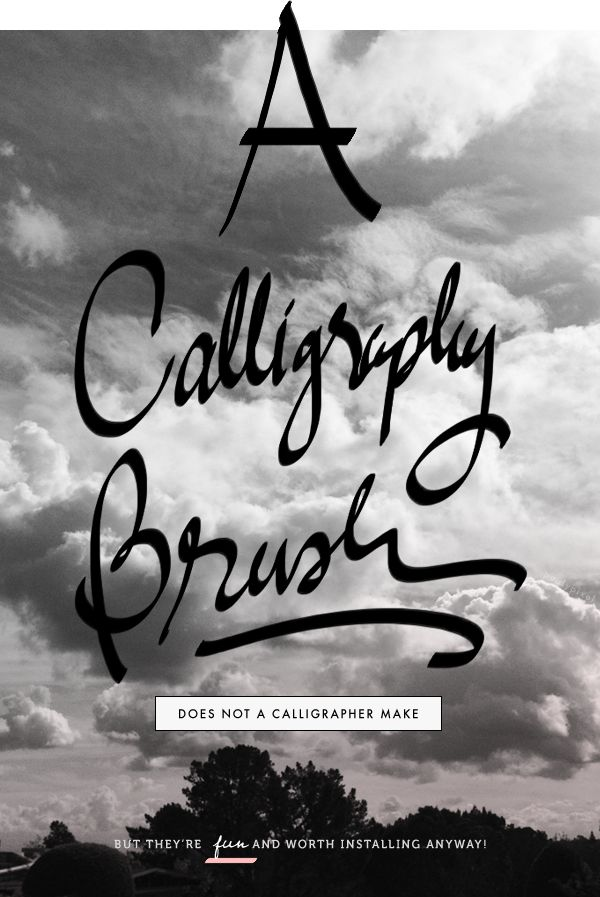 Photoshop Calligraphy Brushes Pinterest