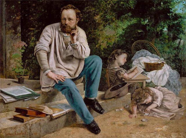 Ο Πιερ Ζοζέφ Προυντόν και τα παιδιά του (1865)