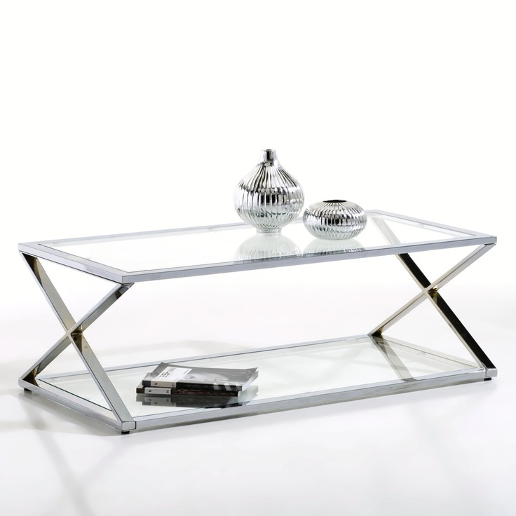 table basse verre pied inox. Black Bedroom Furniture Sets. Home Design Ideas