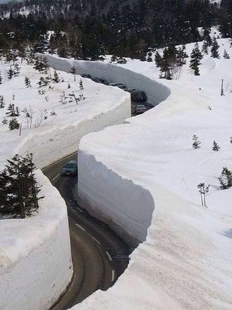 October 4, 2013 - Highway into Lead, South Dakota after over 43 inches of snowfall. The worst blizzard in recorded history for the area.