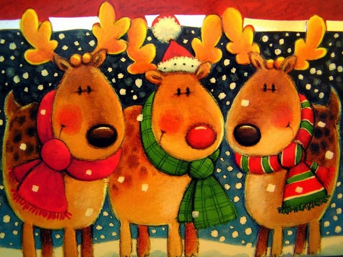 214 Best Images About Christmas Reindeer On Pinterest