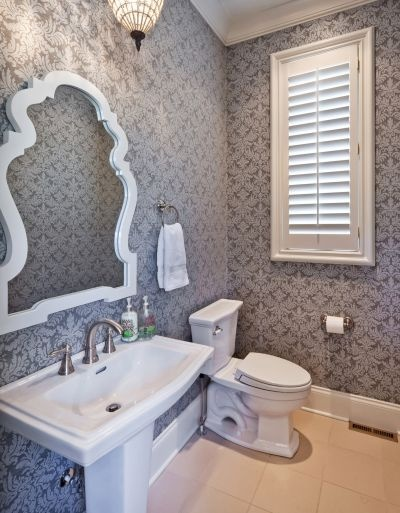 17 Best ideas about Small Bathroom Wallpaper on Pinterest ...