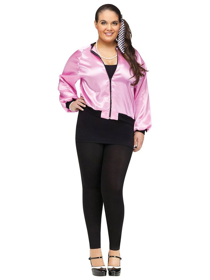plus size pink satin lady jacket costume wholesale 50s costumes for adults