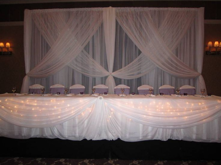 17 Best Ideas About Head Table Backdrop On Pinterest: 17 Best Images About Wedding Backdrops, Table Draping And