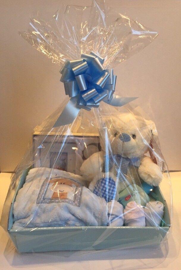 Baby Boy Gift Basket Baby Hamper Baby Shower Gift New Born Baby Boy Blue