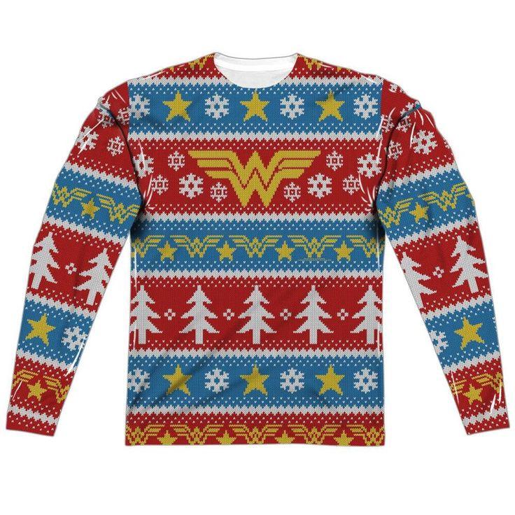 Wonder Woman Ugly Christmas Sweater Shirt