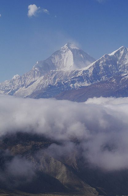 """nilgiri!"" by TravelPod blogger marco-2010 from the entry ""Trek jour 7"" on Wednesday, December 18, 2013 in Muktinath, Nepal"