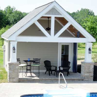 Best 25 pool houses ideas on pinterest prefab pool for Shed into pool house