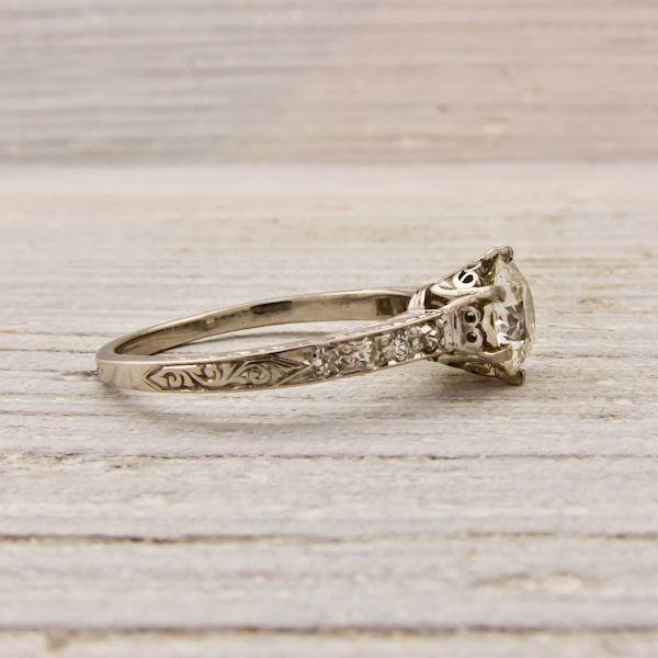 .95 Carat Old European Cut Diamond Engagement Ring | New York Vintage & Antique Estate Jewelry – Erstwhile Jewelry Co NY