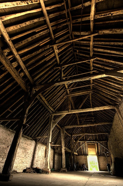 17th Century Barn - This barn has such a beautiful underbelly.  It has to be sturdy to have stood for so many centuries.
