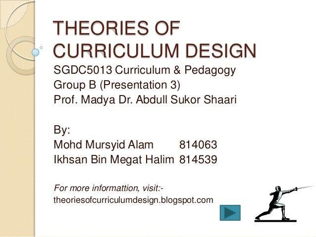 Theories of curriculum design