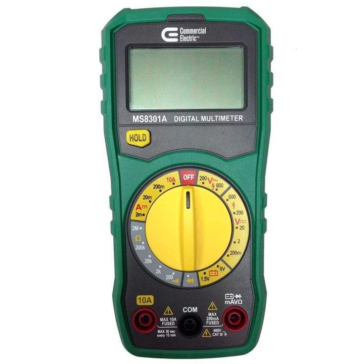 Commercial Electric Manual Ranging Digital Multimeter-MS8301A - The Home Depot