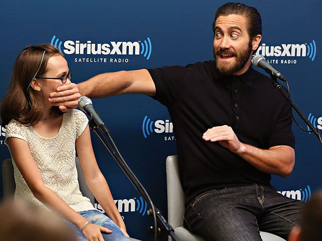 Star Tracks: Wednesday, July 22, 2015 | KEEP IT QUIET | Jake Gyllenhaal and his little Southpaw costar Oona Laurence stop by Entertainment Weekly's SiriusXM radio show to discuss their new film – and joke around in the process – in N.Y.C. on Tuesday.