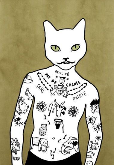 #cat #art #RonaGreen