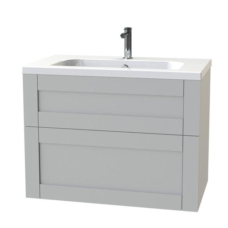 Tvättställsskåp Miller London 80 för Heltäckande Tvättställ - Tvättställsskåp & kommod - Badrumsmöbler