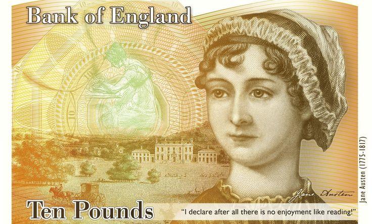 El Banco de Inglaterra ha presentado un nuevo billete de plástico de diez libras (al cambio unos 11,4 euros y unos 13,03 dólares) con el rostro de la escritora británica Jane Austen. Algo simbólico ya que justo se cumplen dos siglos de su muerte en Winchester.