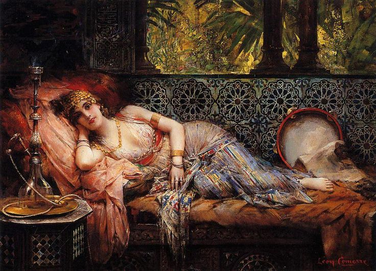 This is a picture of orientalism. I say this because orientalism is a term that is used by art historians, literary and cultural studies scholars for the imitation or depiction of aspects in Middle Eastern, South Asian, and East Asian cultures (Eastern cultures). And this picture is a depiction of this definition.