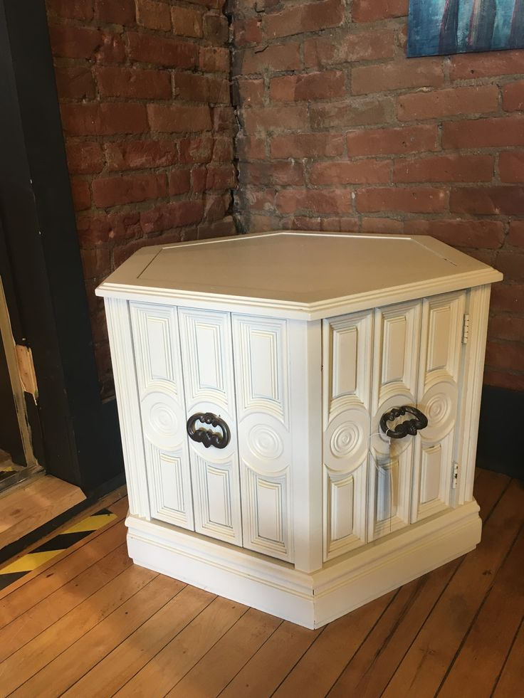 Side Table With Inside Storage Painted In Sherwin Williams Creamy
