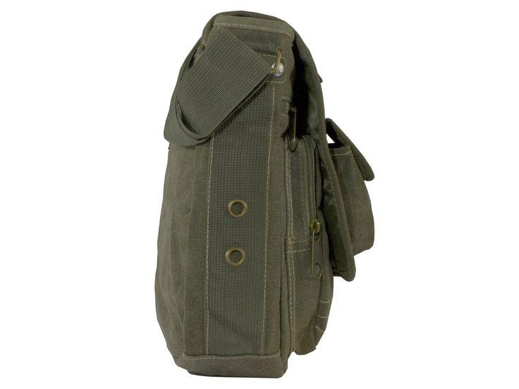 Green #Multipocket #Organizer #Crossbody Canvas Bag