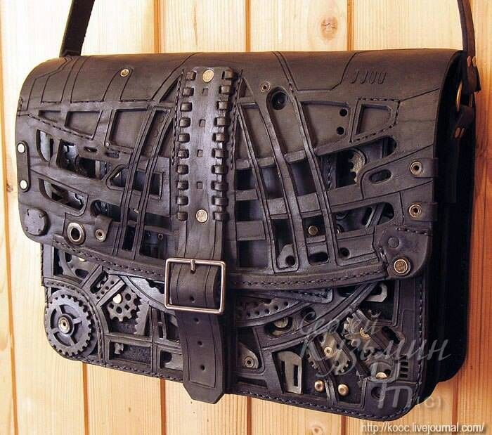 Steam punk messenger bag