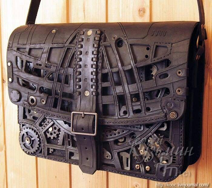 Steam punk messenger bag