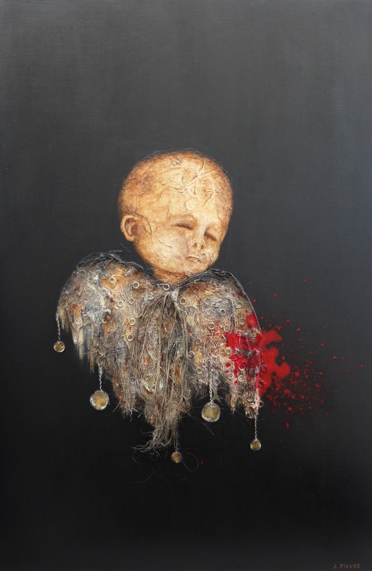 Gaza © Laurent Fièvre - Canvas (acrylic, rope, fabric, jewel, spackle, silk paper) - 81 x 54 cm - 11/08/2014