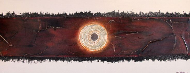 """Mandy Auger, Untitled II, 16""""x40"""", mixed media, $500"""