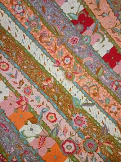 Batik cirebon typical cirebon batik with vibrant and full of color,flower and pattern just beautiful.