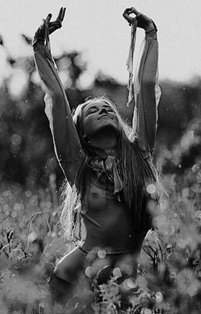 Femme, nature, libre, sauvage