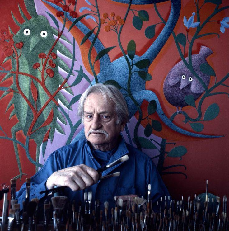 Portrait avec pinceaux #AlfredPellan #Pellan