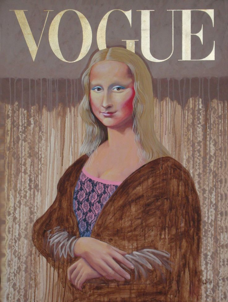Blond Joconde, a Acrylic on  by Larry Willis from United States. It portrays: Abstract, relevant to:  Mona again